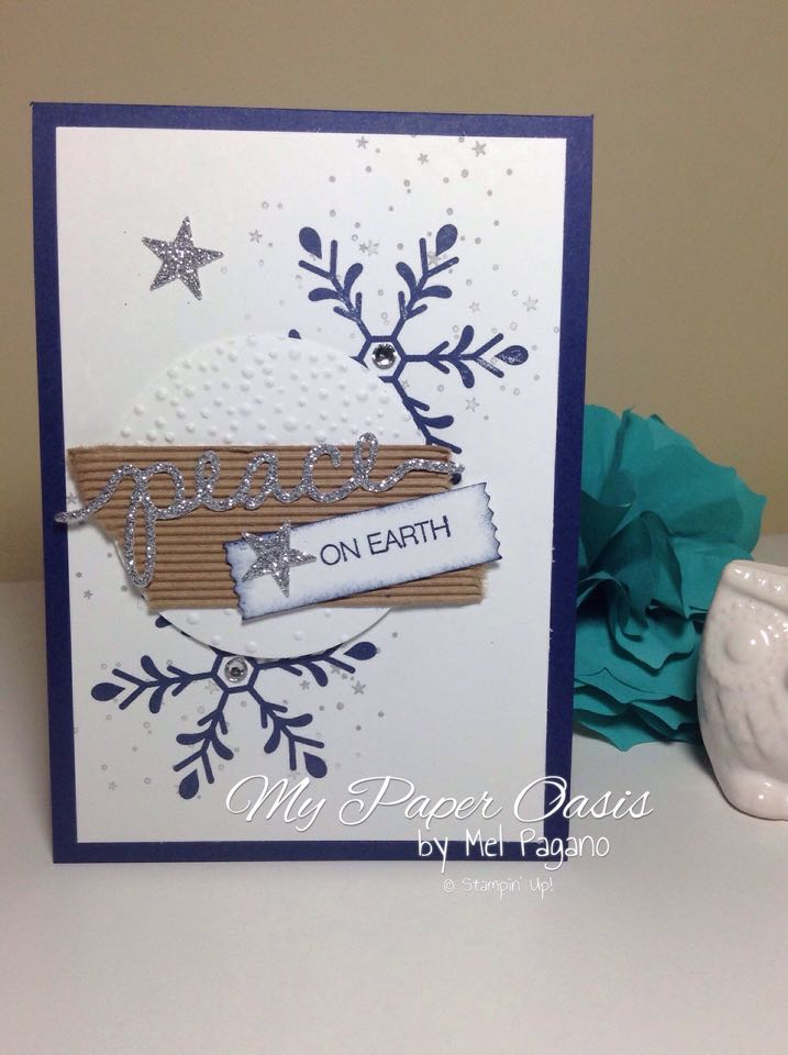 Christmas card, mypaperoasis, stampin up, Holly Jolly Greetings