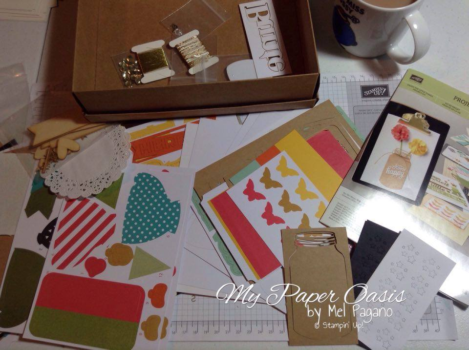 Enjoy the little things project kit, stampin up, project kit