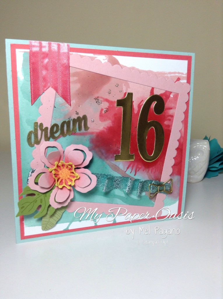 my paper oasis, stampin up, watercolouring technique, ESAD, botanical blooms, number of years