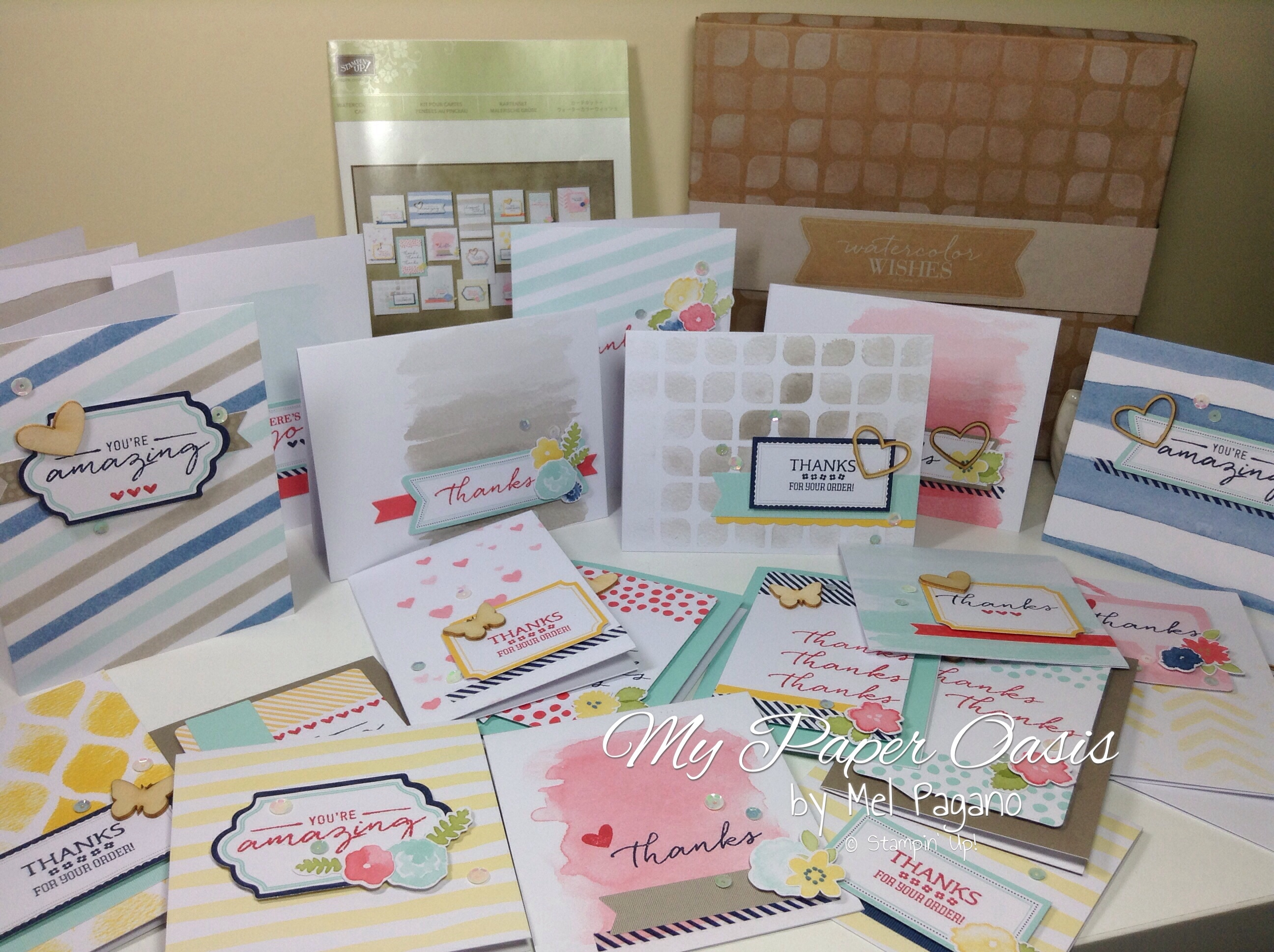 My Paper Oasis Watercolour Wishes Card Kit Stampin Up Cards