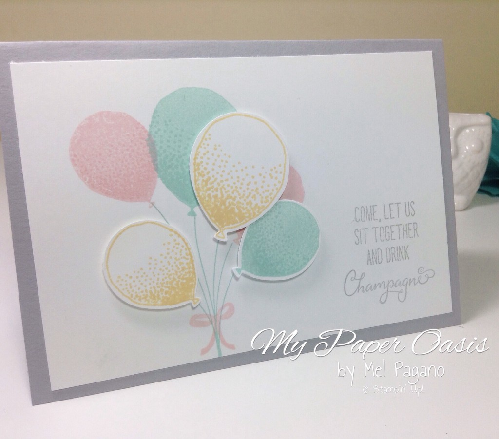 From My paper Oasis; Balloon Celebration; Balloon Card; Balloon Bundle; quick and easy to make