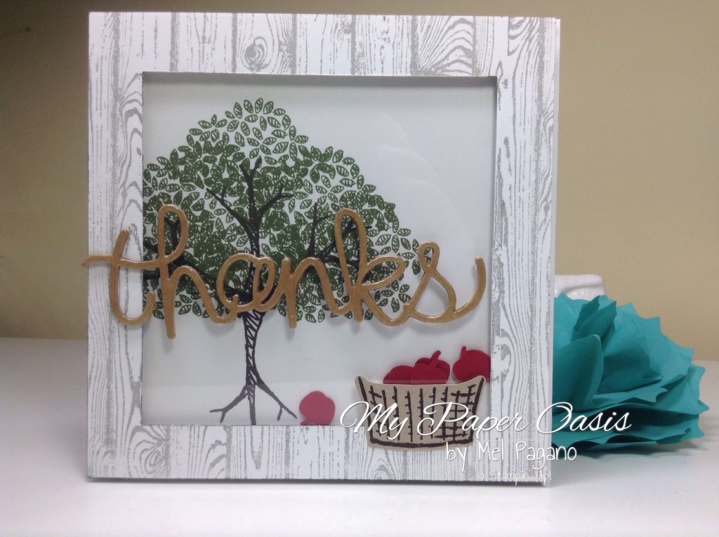 Sprinkles of Life Stamp set, My Paper Oasis, Thank you card, apple tree, shaker card