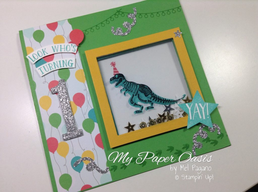 No bones about it, shaker cards, my paper oasis, dinosaurs, first birthday