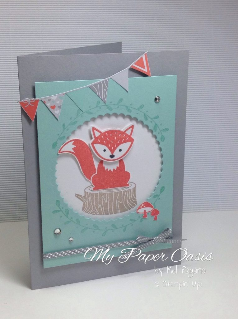 Foxy Friends Bundle by My Paper Oasis, stampin up products, baby card, birthday card, thank you