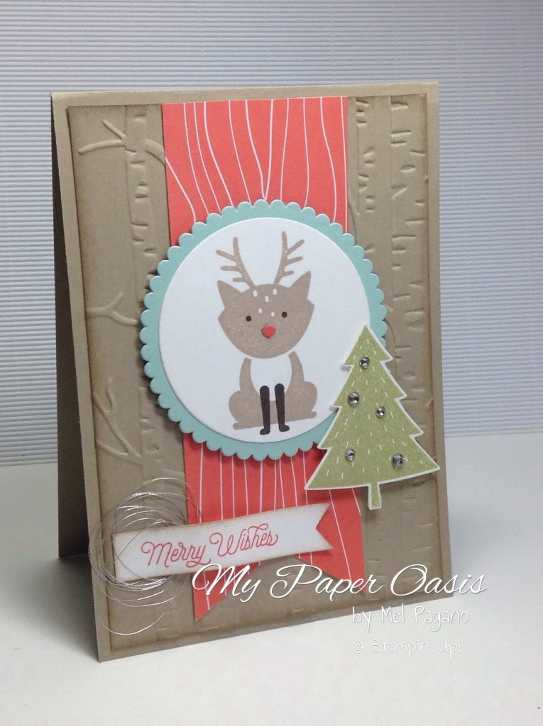 A Foxy Friends bundle Christmas reindeer by My Paper Oasis, stampin Up products, rudolph's red nose