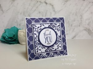 Floral Boutique DSP card by My Paper Oasis; simple card; quick card; designer series paper; stampin up