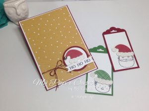 Tutorial using the Jolly Friends bundle and Sliding Star Framelits by My Paper Oasis; stampin up; christmas card; magic elf; elf on a shelf; fun card; elf card; santa card