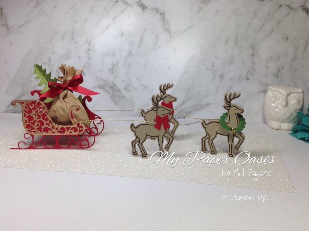 Santa's sleigh for #GDP059 by My Paper Oasis, stampin up Santa's sleigh bundle; Christmas fun