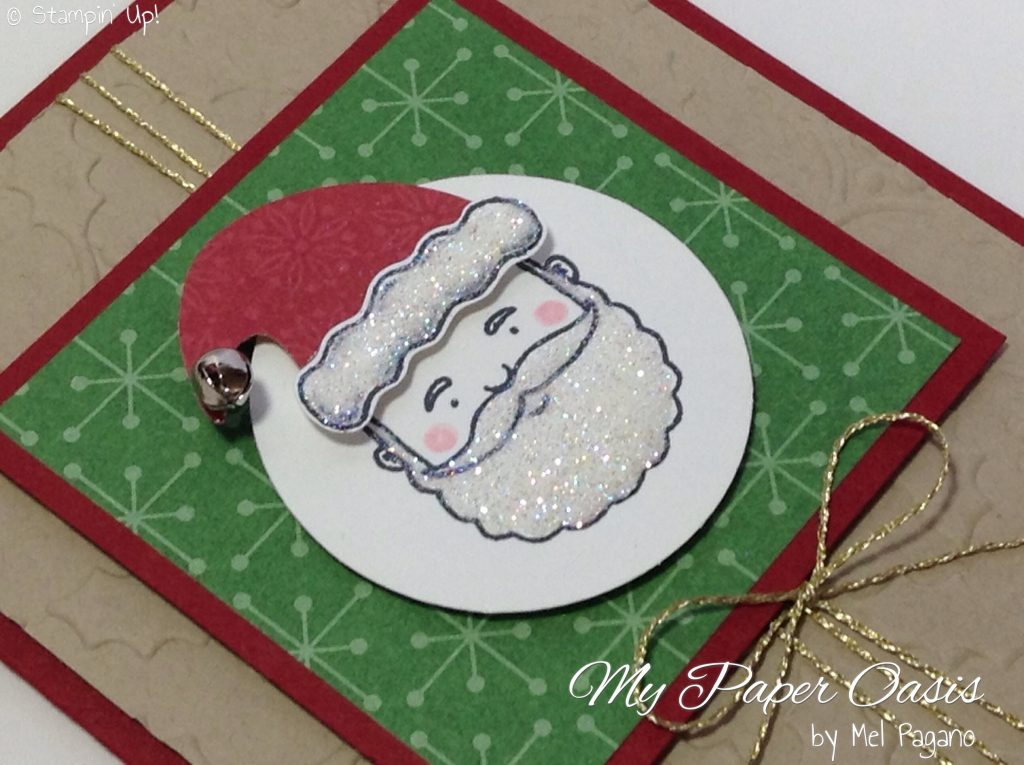 Jolly friends Bundle tip with Fine tip glue pen by My Paper Oasis, stampin up, jolly fun, santa card, christmas card
