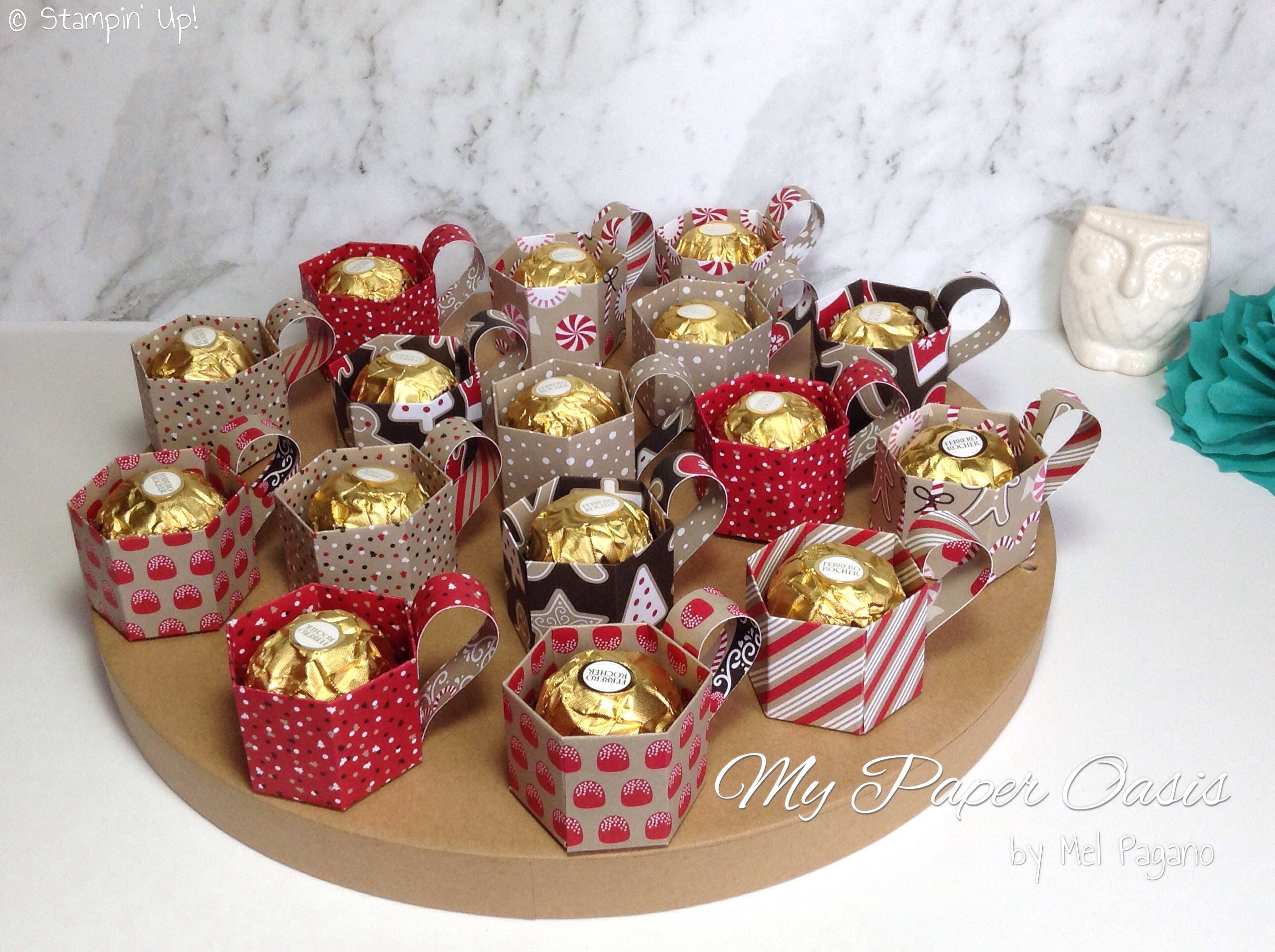 Mini Paper Candy Cup : Candy cane lane mini cup treat holders with video link