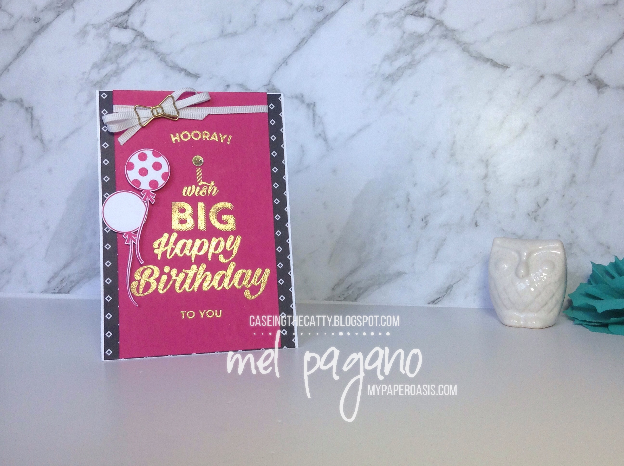 CTC110 using Birthday Bright Set by My Paper Oasis; stampin Up; gold embossing; heat embossing; birthday card