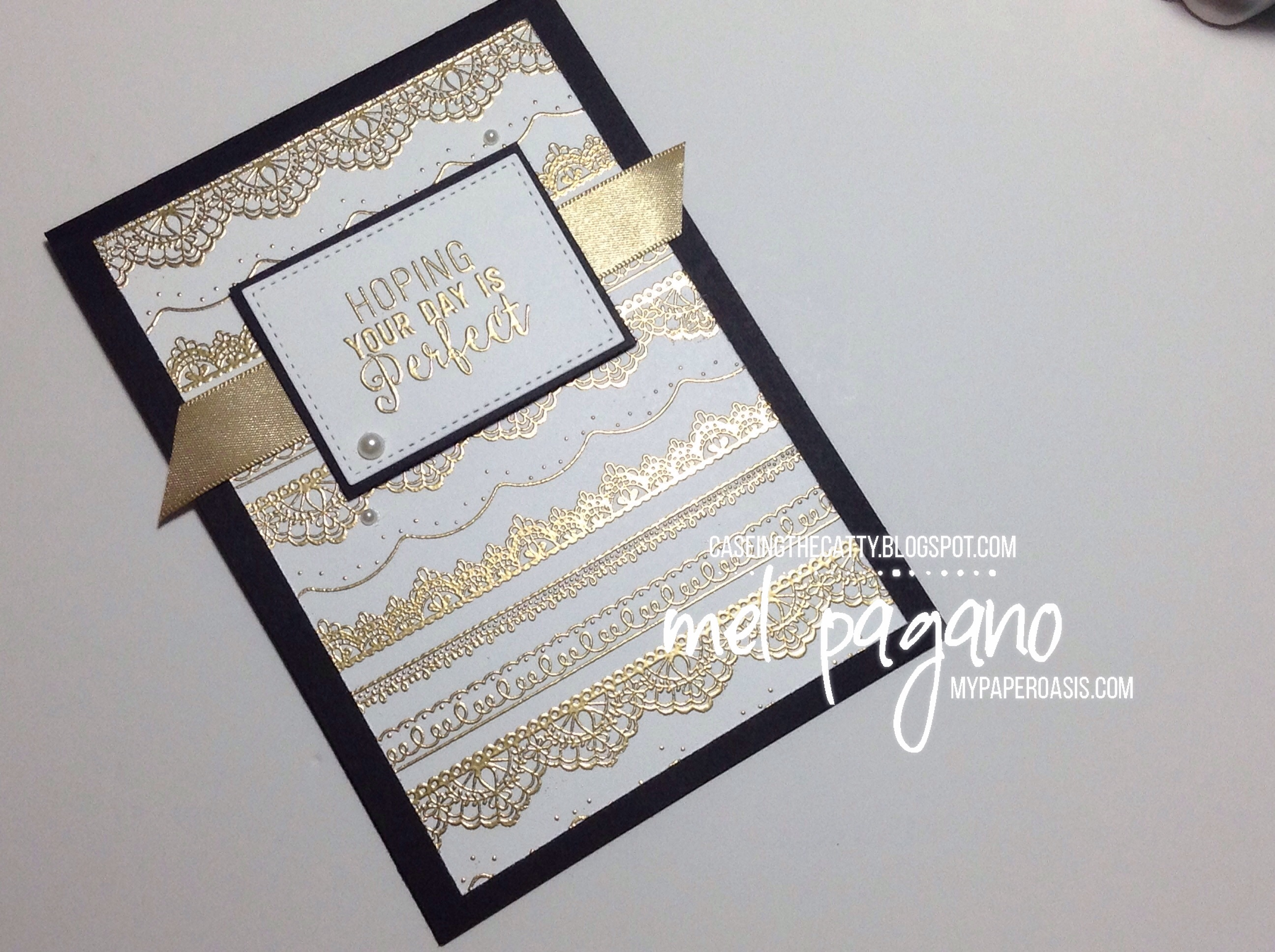 CTC #115 – Delicate Details Wedding Card by My Paper Oasis; Stampin' Up!; wedding card; heat embossing; handmade card