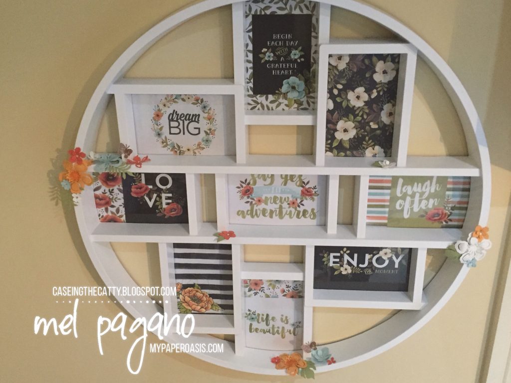 CTC #116 Hello Lovely Project Life Frame by Mel Pagano at My Paper Oasis, Botanical Builder Framelits, Stampin Up, Inspirational board