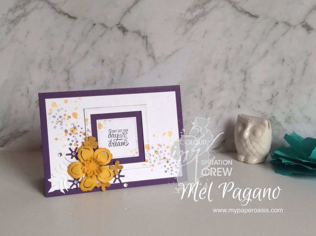 Colour Inspiration#4 using Botanical Blooms by Mel Pagano from My Paper Oasis, Stampin Up, handmade card, stitched shape framelits