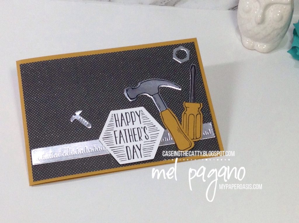CTC 120 - Nailed It Peg Board by Mel Pagano at My Paper Oasis, Stampin Up, Tools, Male Card