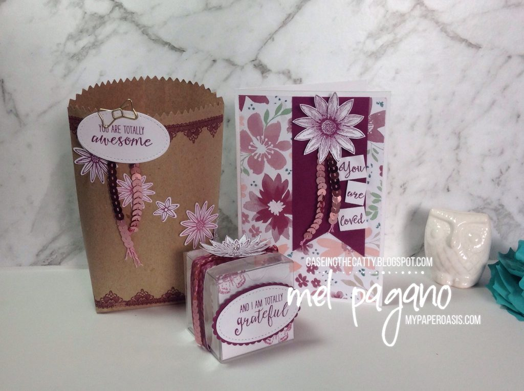 CTC 128 Favourite Kit Projects by Mel Pagano at My Paper Oasis using Stampin' Up! Grateful Bunch and Blooms and Bliss DSP