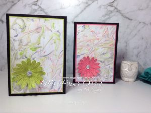 Shaving Foam Technique by Mel Pagano at My Paper Oasis using Daisy Delight from Stampin Up