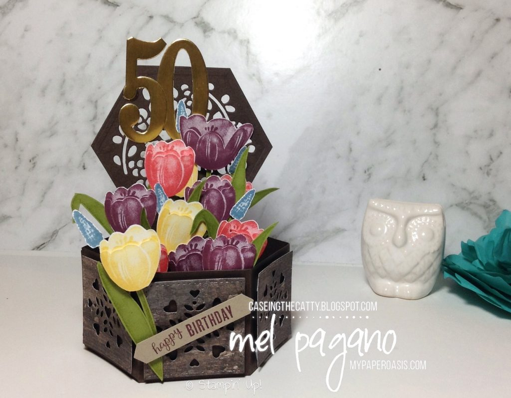 CTC 132 - Birthdays by Mel Pagano at My Paper Oasis using Hostess Set Tranquil Tulips by Stampin' Up!