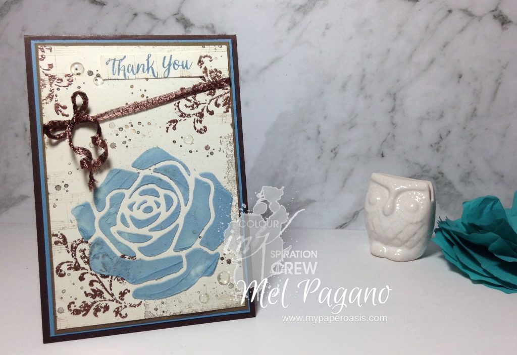 Colour INKspiration #11 by Mel Pagano at My Paper Oasis using Rose Garden Framelits and Embossing Paste by Stampin' Up!