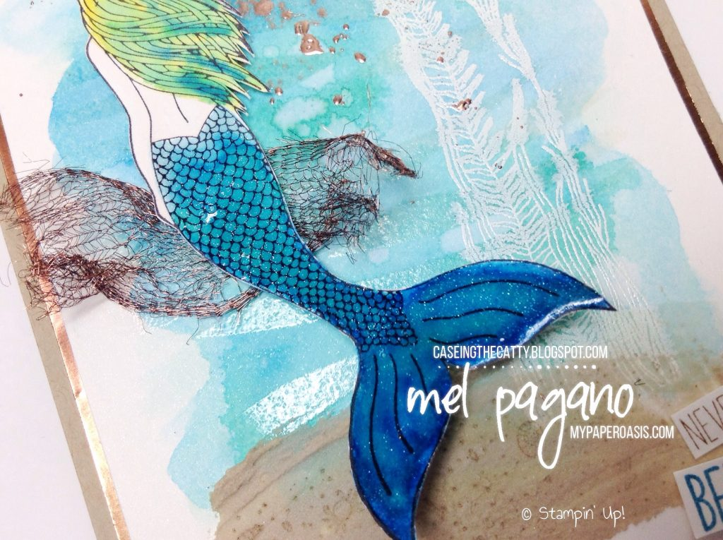 CTC 133 Love and Sympathy using Magical Mermaid by Mel Pagano at My Paper Oasis, Stampin' Up!, watercoloring, embossing paste
