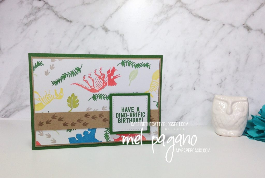 CTC 134 - No Bones About It for babies and kids by Mel Pagano at My Paper Oasis. Use any set from Stampin' Up!s range to create your very own designer series paper backgrounds.