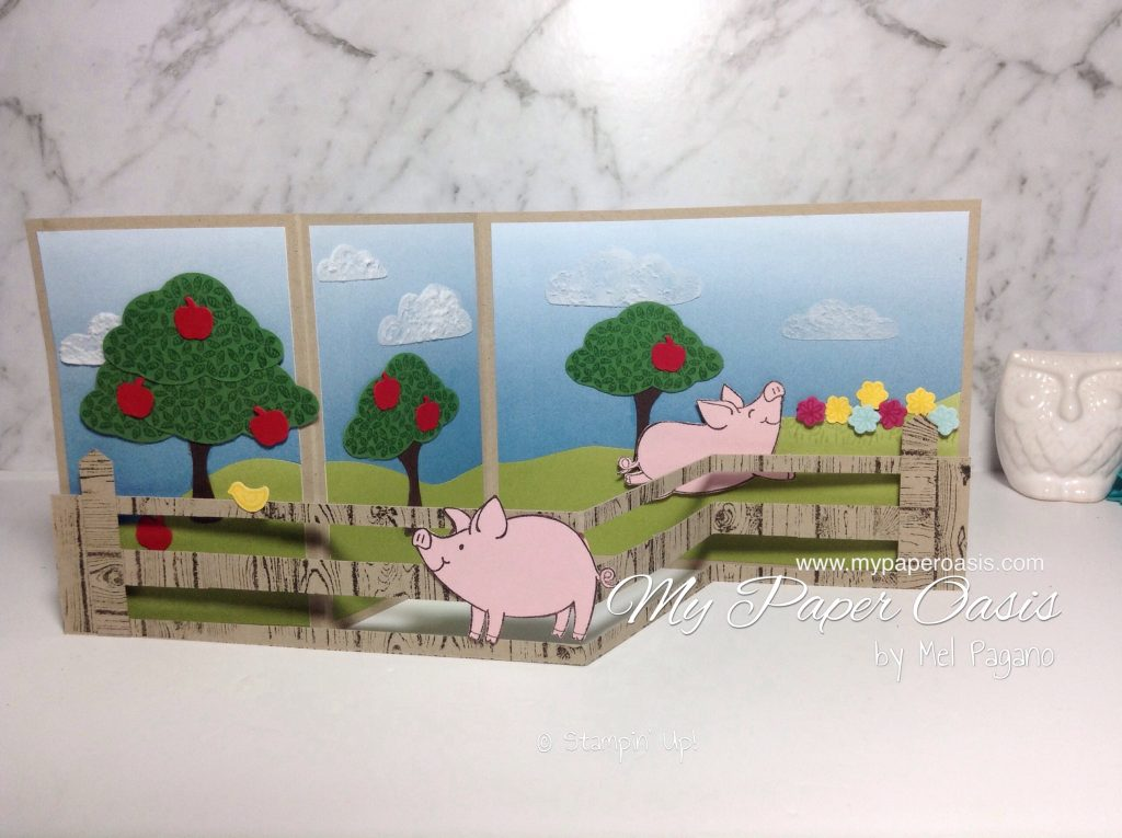 This Little Piggy Z-Fold Slider Card by My Paper Oasis for AddINKtive Design Team