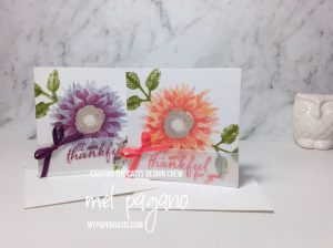 CTC 146 Mini Pizza Box Gift cards using Painted Harvest by Stampin Up