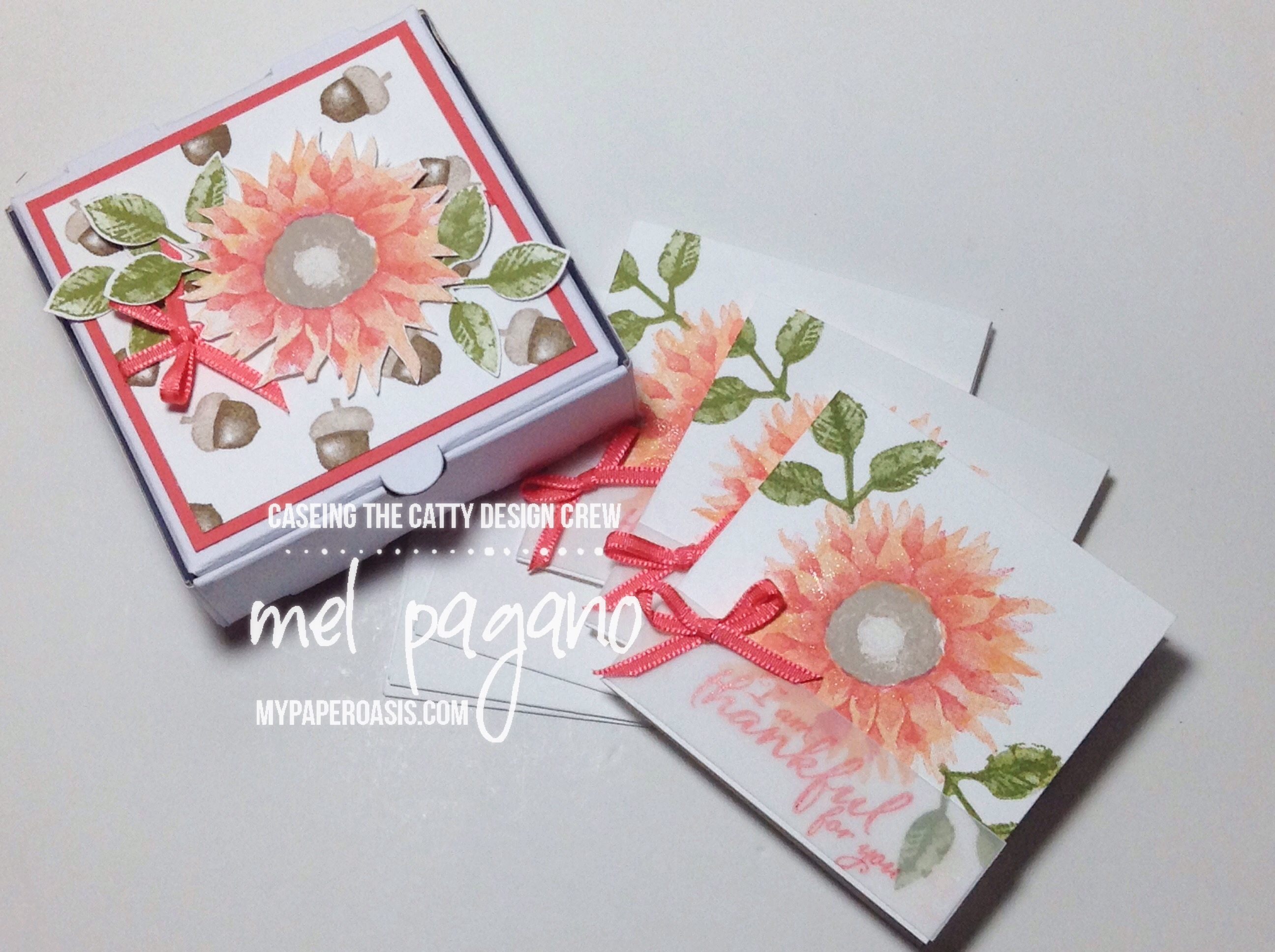 CTC 146 Mini Pizza Gift boxes using Painted Harvest by Stampin Up