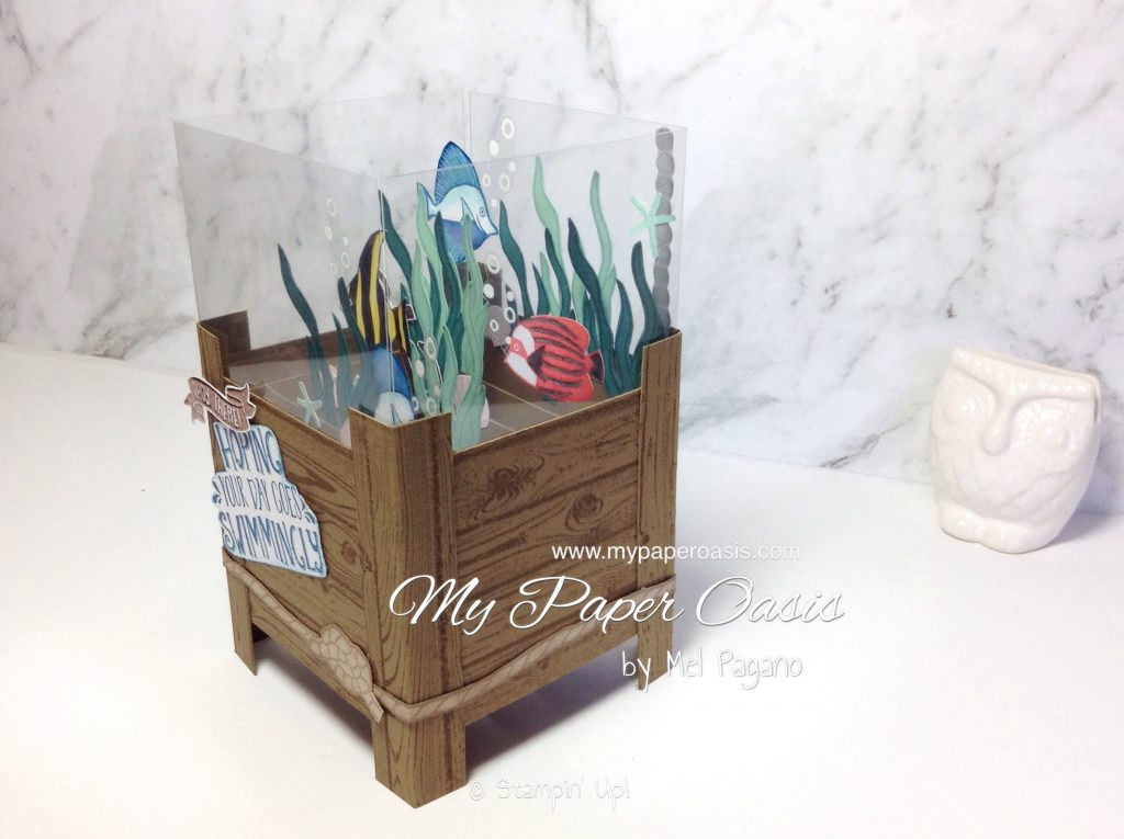 Seaside Shore 3D Fish Tank Card by My Paper Oasis