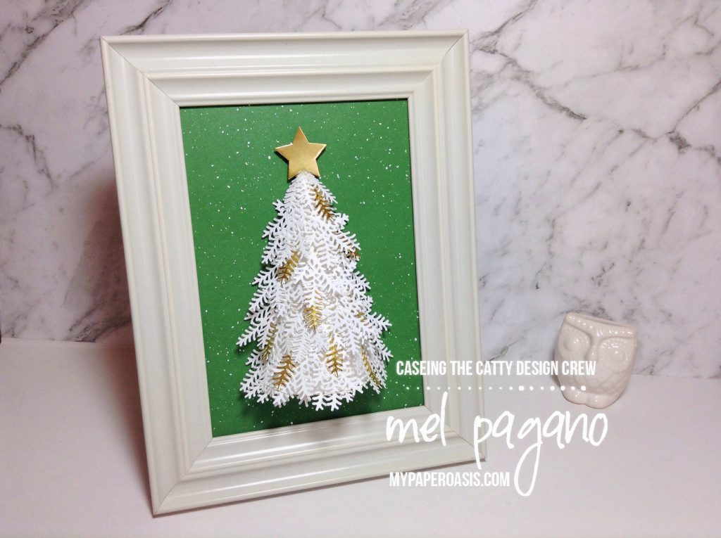 CTC 150 3D Framed Christmas Tree using the Ready for Christmas Bundle