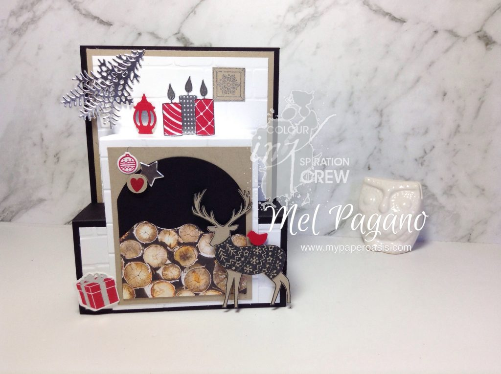 Colour INKspiration Christmas Step Panel Card by Mel Pagano at My Paper Oasis