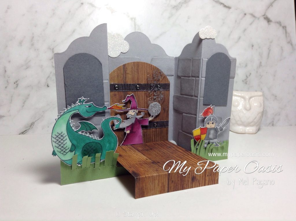 Sneak Peak Magical Day Bridge Fold Card by Mel Pagano at My Paper Oasis