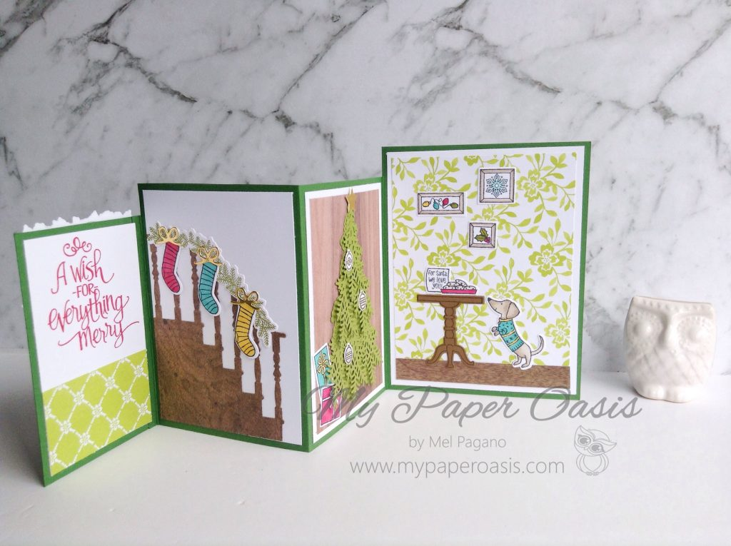 Ready for Christmas Four Fold Card by Mel Pagano at My Paper Oasis