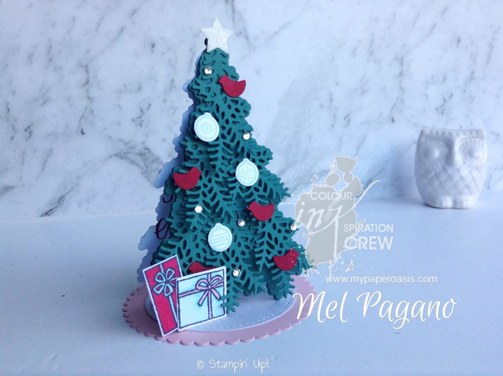 Colour InNKspiration 24 - 3D Christmas Tree by Mel Pagano at My Paper Oasis