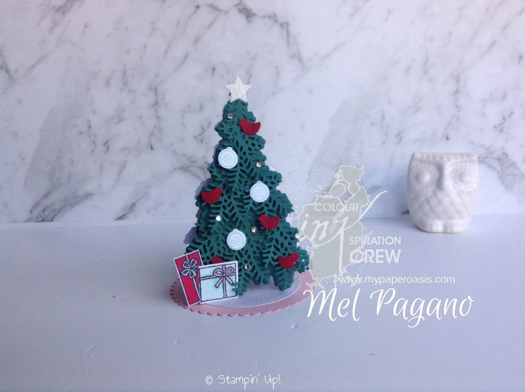 Colour INKspiration 24 - 3D Christmas Tree by Mel Pagano at My Paper Oasis