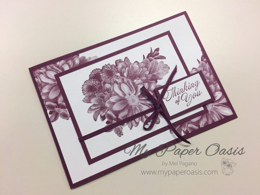 Sympathy with Heartfelt Blooms by Mel Pagano at My Paper Oasis