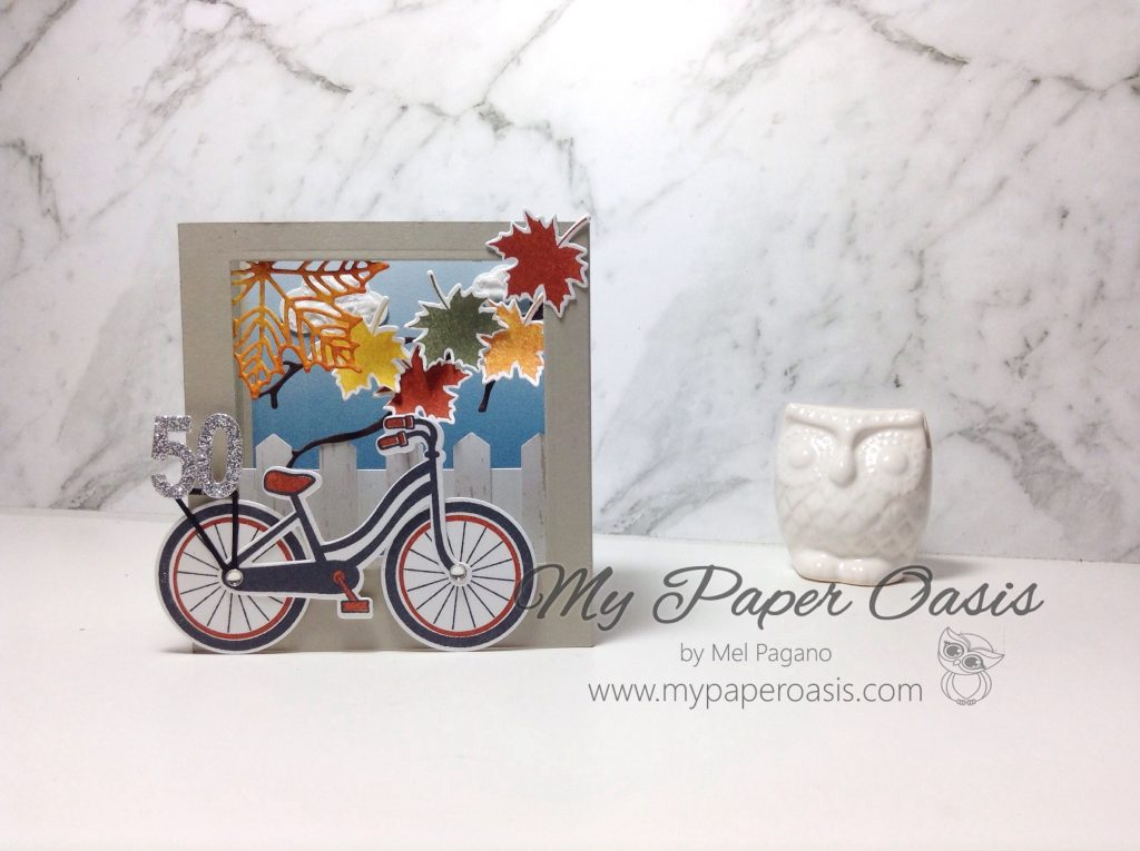 Colourful Seasons Bike Ride Shadow Box by Mel Pagano at My Paper Oasis