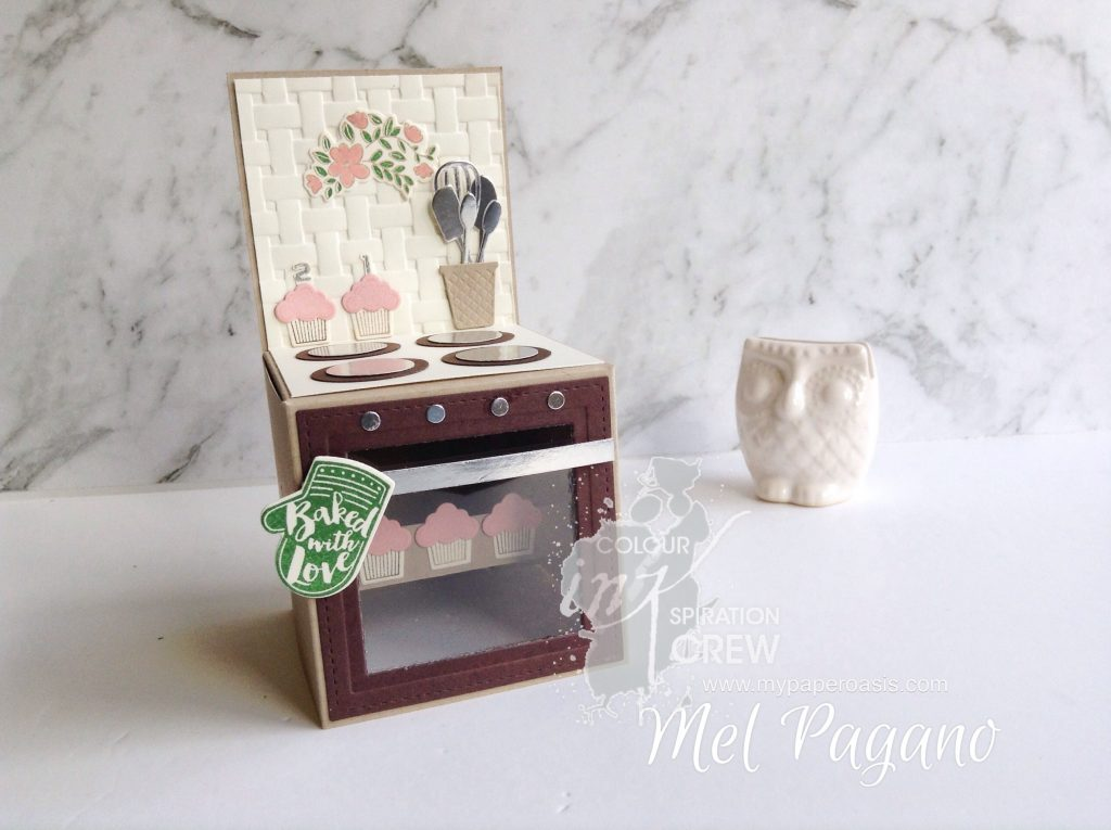 Oven Card in a Box by Mel Pagano at My Paper Oasis