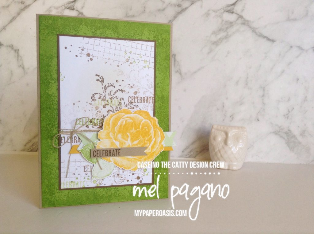 CTC 192 - Tranquil Textures using Healing Hugs by Mel at My Paper Oasis , Stampin Up